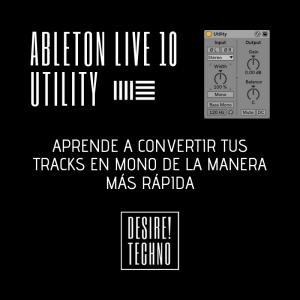 Ableton Live 10 Utility Mono