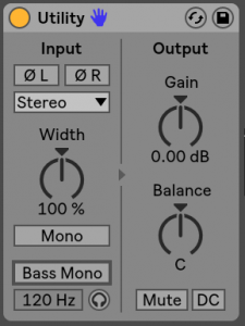 Utility Ableton Live 10