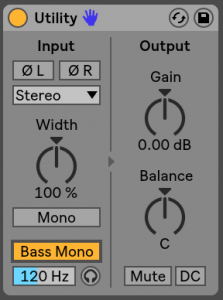 Ableton Live 10 Utility
