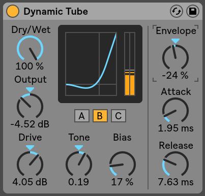 Dynamic Tube Ableton Live