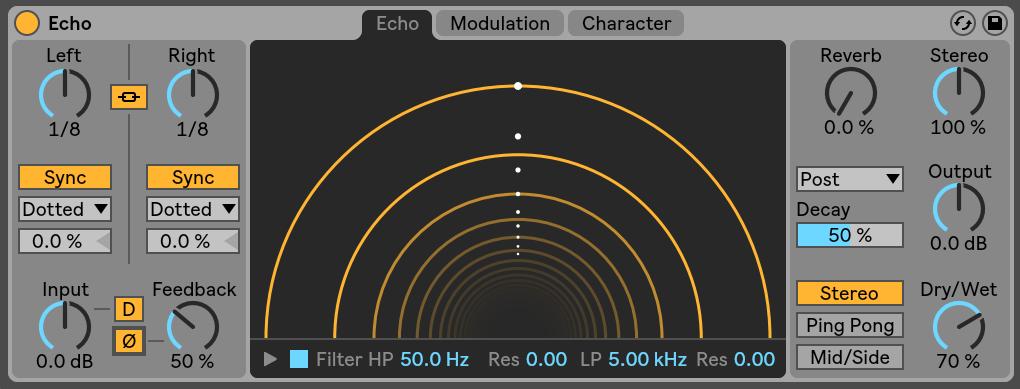Echo Ableton Live