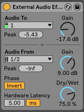 External Audio Effect Ableton Live
