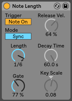 Note lenght Ableton Live
