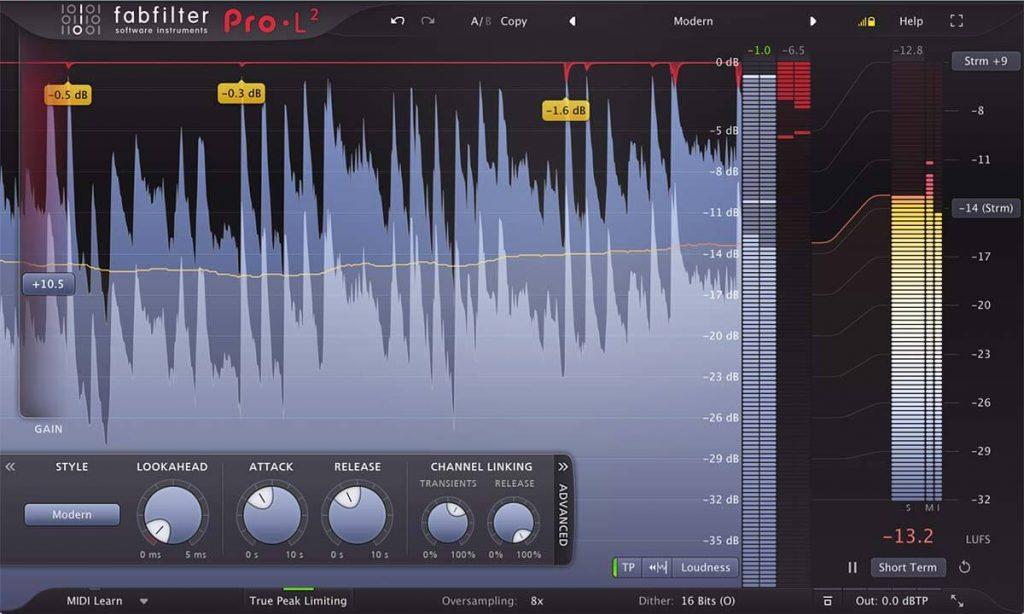 Fab Filter PRO L mastering