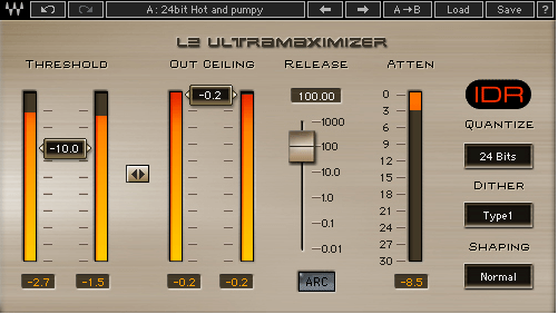 Limitador mastering