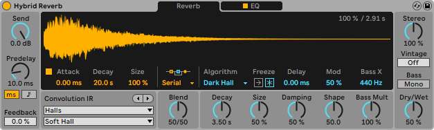 Hybrid Reverb Ableton Live 11